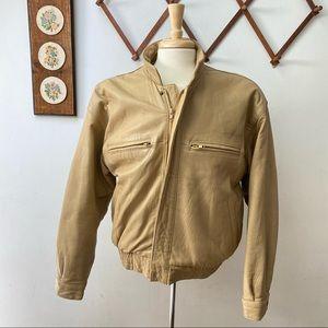 Christian Dior Vintage Leather Bomber Jacket